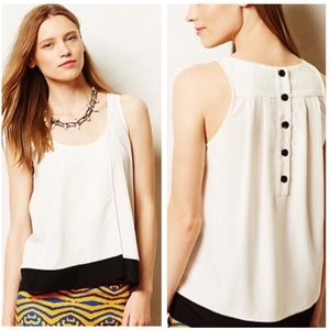 •Maeve• Anthropologie Colorblock Back Button Top